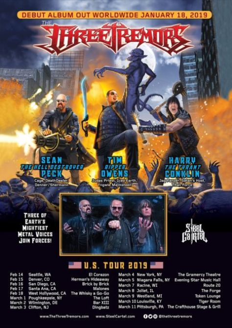 tour posters, three tremors, three tremors tour posters