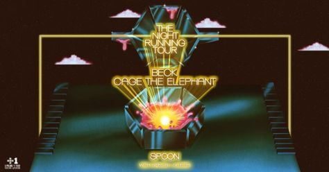 tour posters, beck, cage the elephant, the night running tour poster