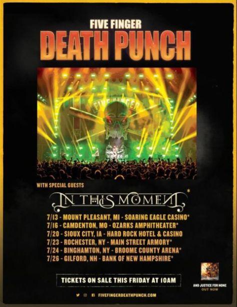 tour posters, five finger death punch tour posters, five finger death punch