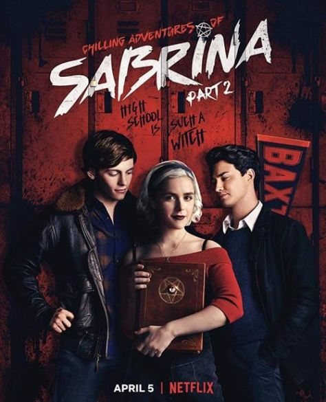 television posters, promotional posters, chilling adventures of sabrina, netflix, warner brothers television
