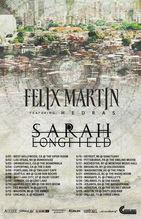 tour posters, felix martin, sarah longfield
