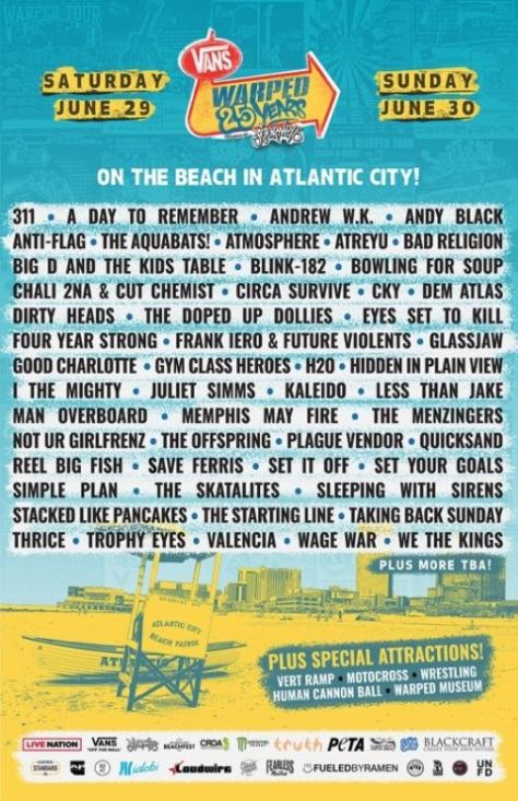 warped tour, warped tour 25th anniversary