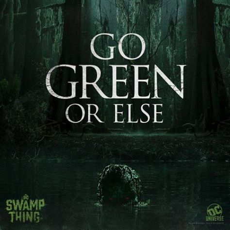 television posters, swamp thing, dc universe
