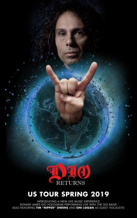 tour posters, dio hologram tour posters, ronnie james dio, dio