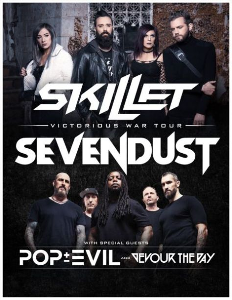 tour posters, skillet, sevendust