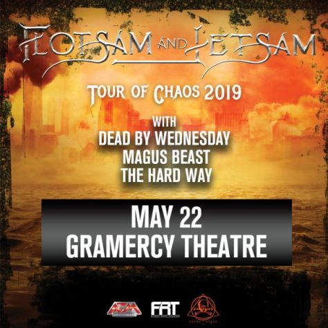 concert posters, gramercy theatre, flotsam and jetsam
