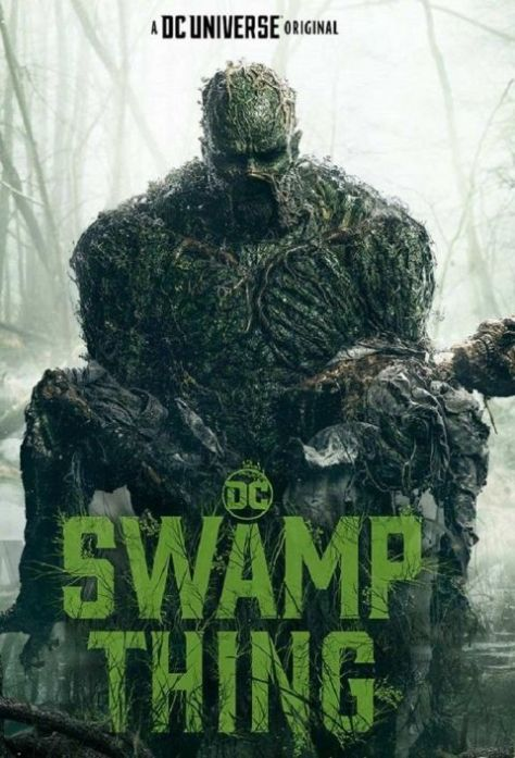 television posters, warner brothers television, dc universe, swamp thing
