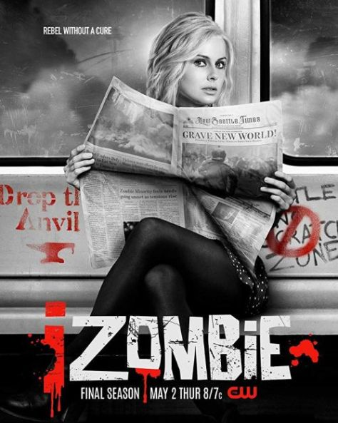 television posters, promotional posters, izombie, warner brothers television