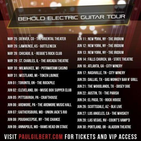 tour posters, paul gilbert, paul gilbert tour posters