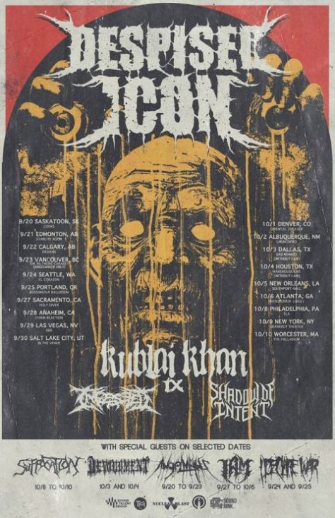tour posters, nuclear blast records artists, despised icon, despised icon tour posters