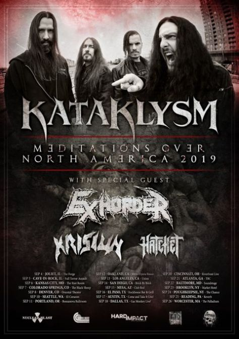 tour poster, nuclear blast records artists, kataklysm, kataklysm tour posters