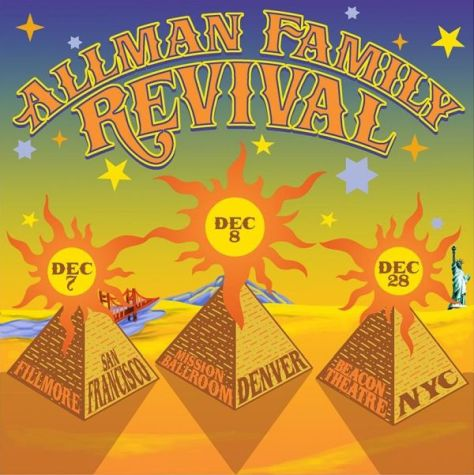 tour posters, allman family revival 2019, allman family revival