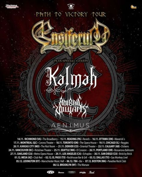 tour posters, ensiferum, ensiferum tour posters, metal blade records artists