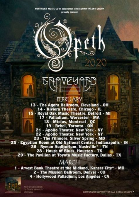 tour posters, nuclear blast records artists, opeth