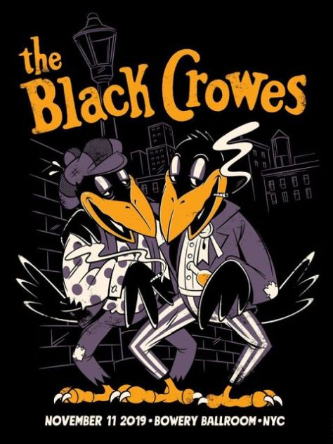 show posters, black crowes, black crowes show posters