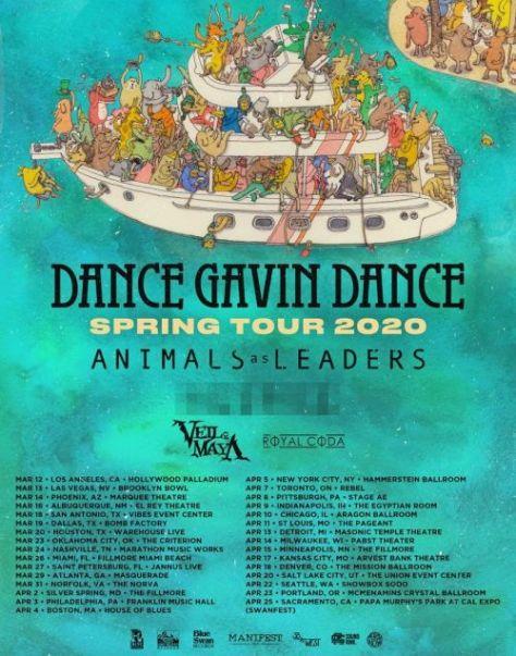 tour posters, dance gavin dance, dance gaven dance posters