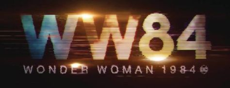 wonder woman 1984 movie logo, warner brothers pictures