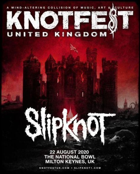festival posters, slipknot posters, knotfest, knotfest uk, roadrunner records artists