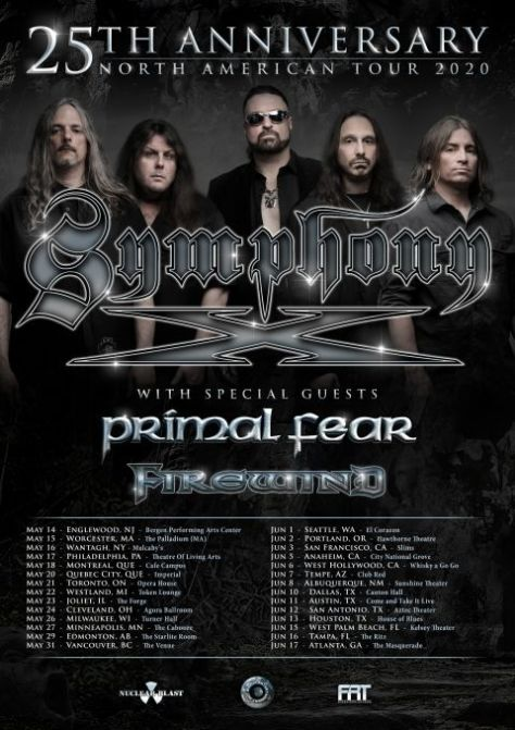 tour posters, nuclear blast records artists, symphony x, symphony x tour posters