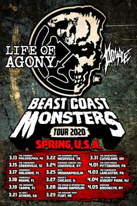 tour posters, life of agony, doyle, doyle wolfgang von frankenstein, napalm records artists
