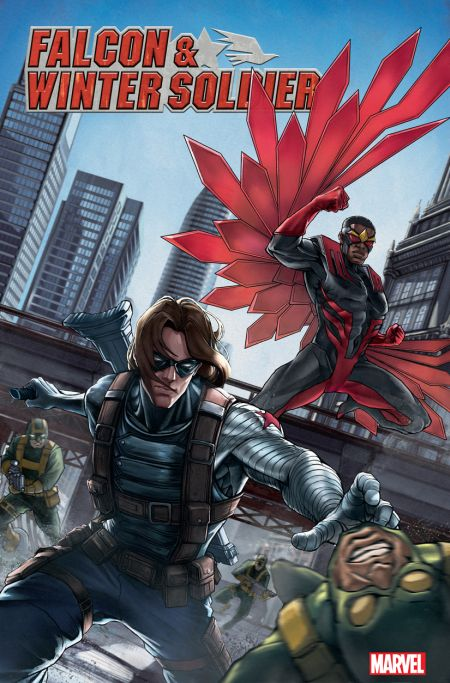 comic book covers, marvel comics, marvel entertainment, falcon and winter soldier