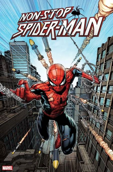 comic book covers, marvel comics, marvel entertainment, non-stop spider-man
