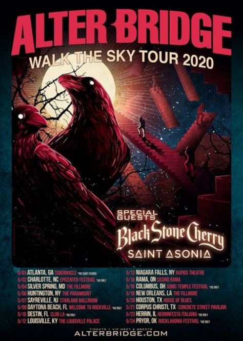 tour posters, alter bridge, alter bridge tour posters, napalm records