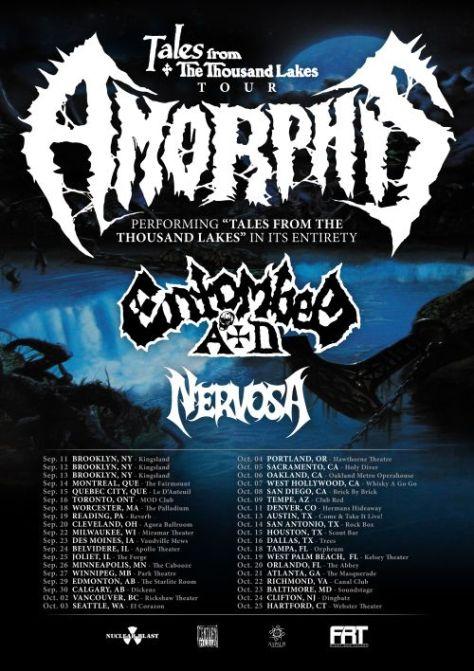 tour posters, amorphis, amorphis tour posters, nuclear blast records artists