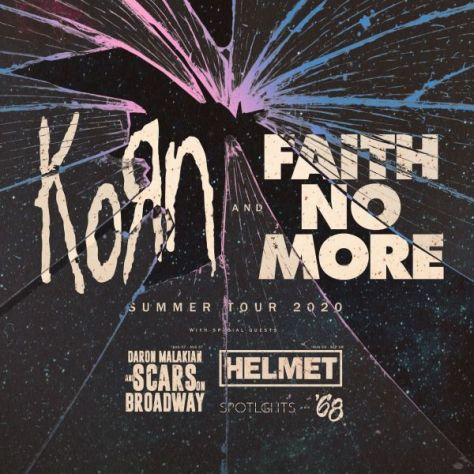 tour posters, promotional posters, korn, faith no more, korn tour posters, faith no more tour posters