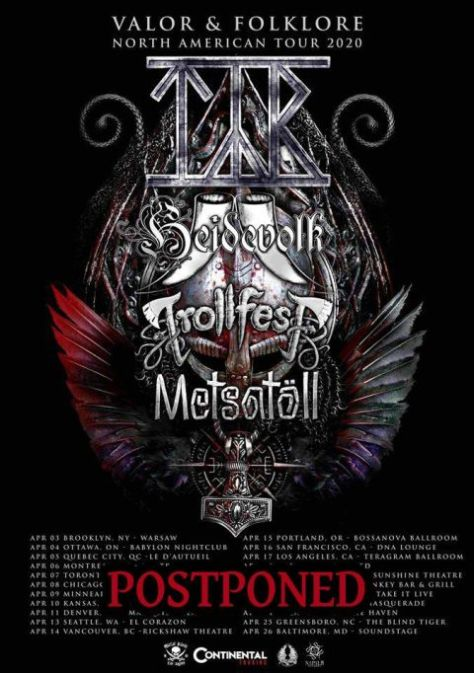 tour posters, tyr, tyr tour posters, metal blade records artists
