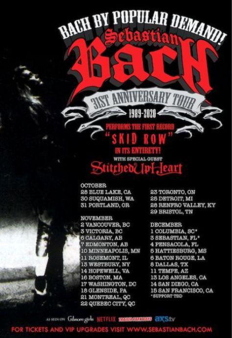tour posters, sebastian bach, sebastian bach tour posters
