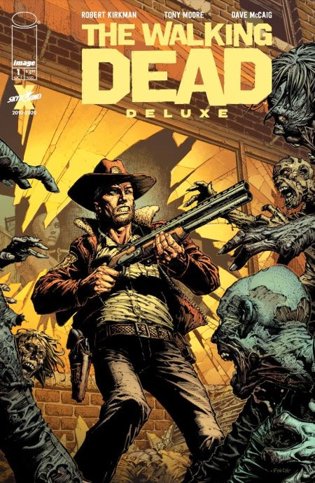 comic book covers, image comics, skybound entertainment, the walking dead deluxe, the walking dead deluxe covers
