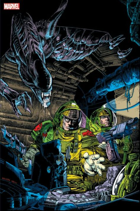 book covers, marvel comics, marvel entertainment, aliens