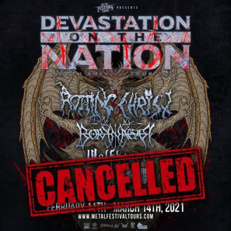 tour posters, promotional posters, devastation on the nation tour, devastation on the nation tour 2021, metal festival tours