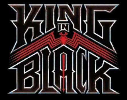king in black comics logo, marvel comics, marvel entertainment
