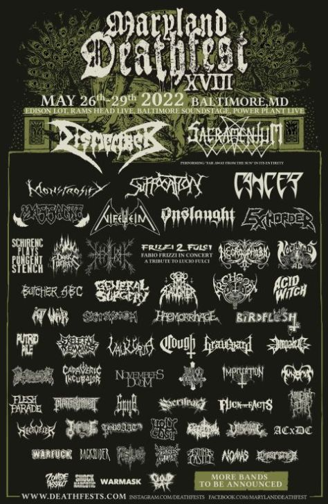 festival posters, promotional posters, maryland deathfest, maryland deathfest posters