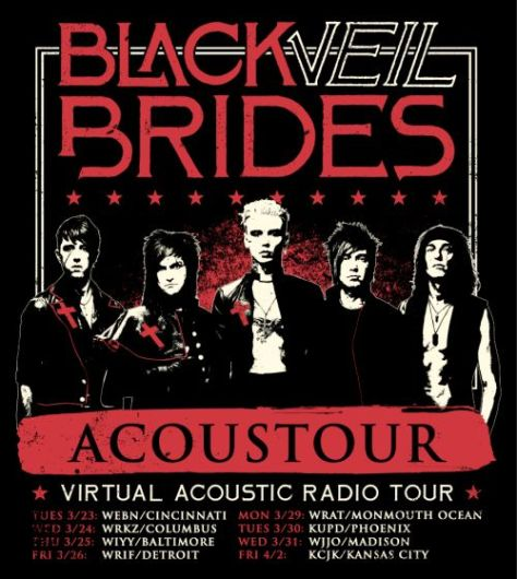 black veil brides, black veil brides tour posters, sumerian records artists