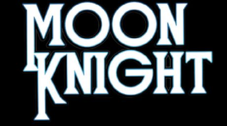 moon knight comics logo original, marvel comics, marvel entertainment, moon knight
