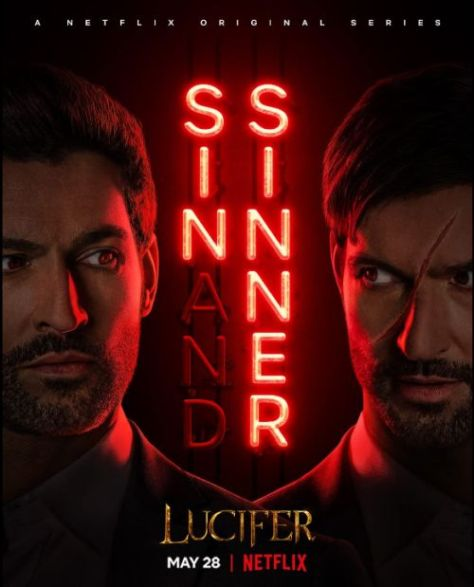 television posters, promotional posters, lucifer, netflix original, warner brothers television