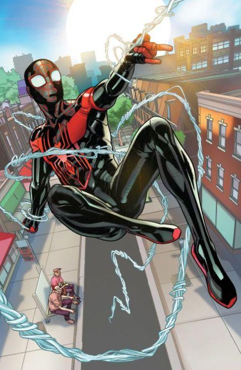 comic book art, marvel comics, marvel entertainment, miles morales spider-man