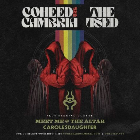 tour posters, promotional posters, coheed and cambria, the used, coheed and cambria tour posters, the used tour posters