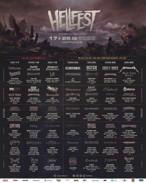 festival posters, promotional posters, hellfest open air festival