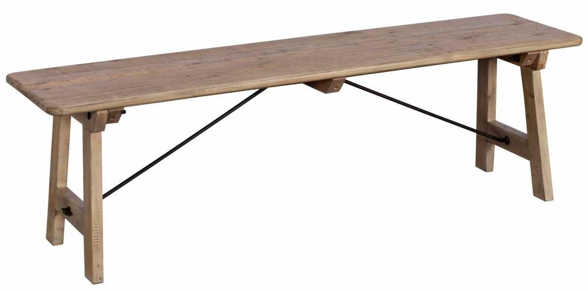 banc de table bois recycle clair 150 cm salerne