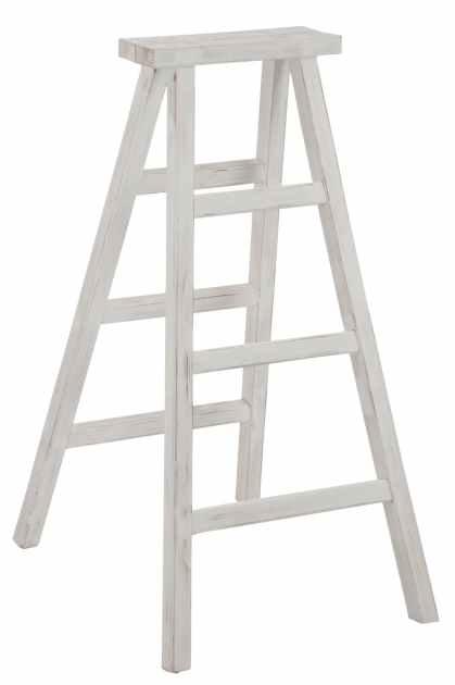 echelle decorative blanche bois ref 30021880