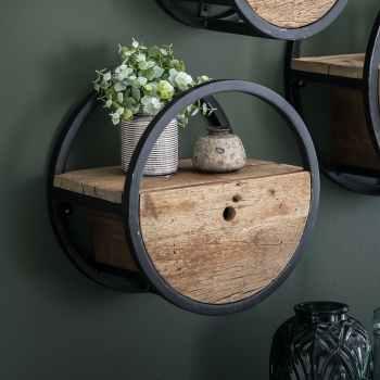 etageres murales en bois recycle