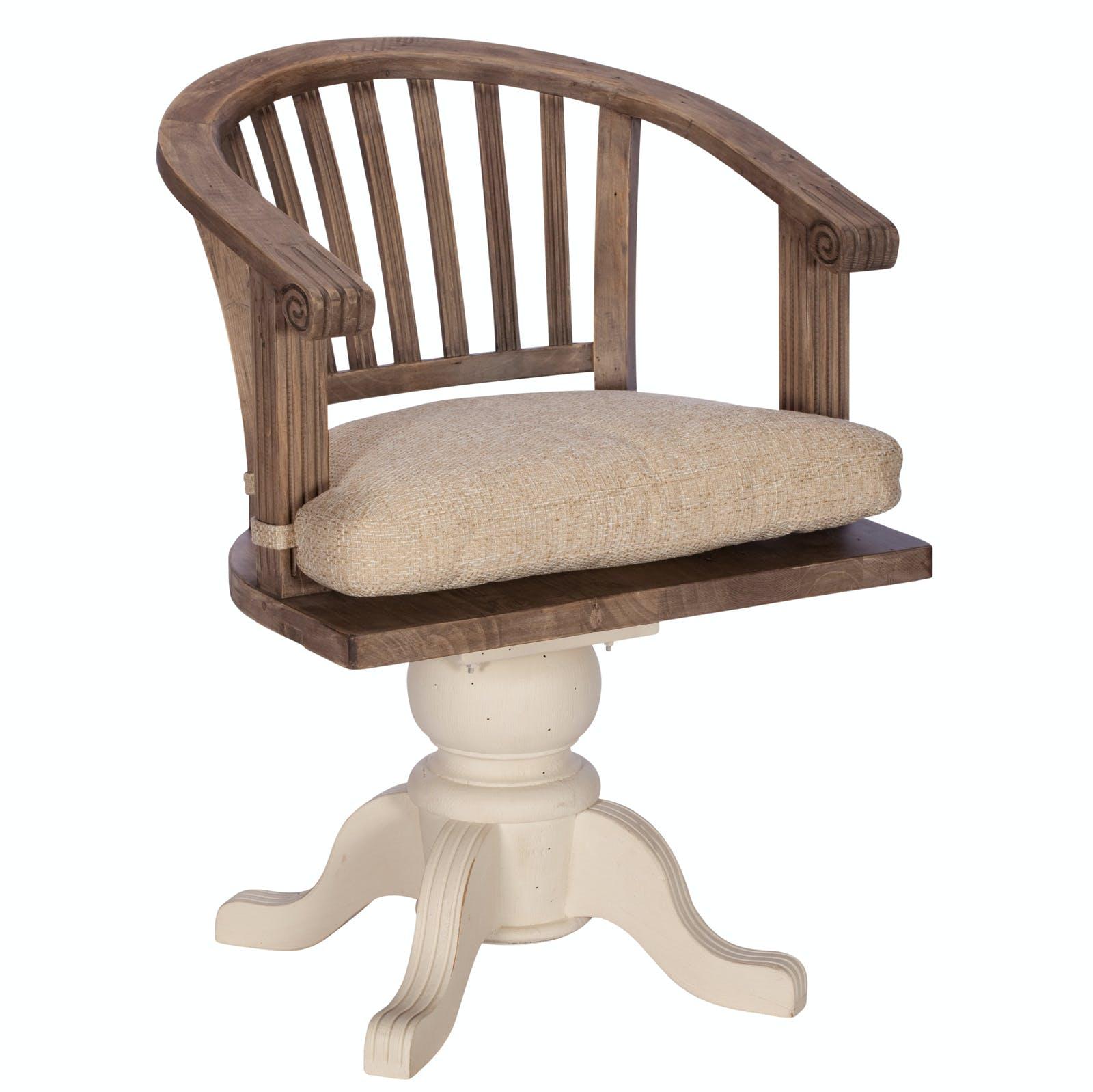 fauteuil de bureau blanc bois recycle pivotant bristol