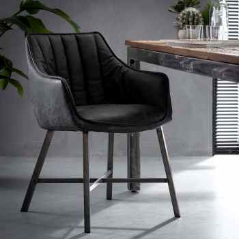 chaises avec accoudoirs rotin