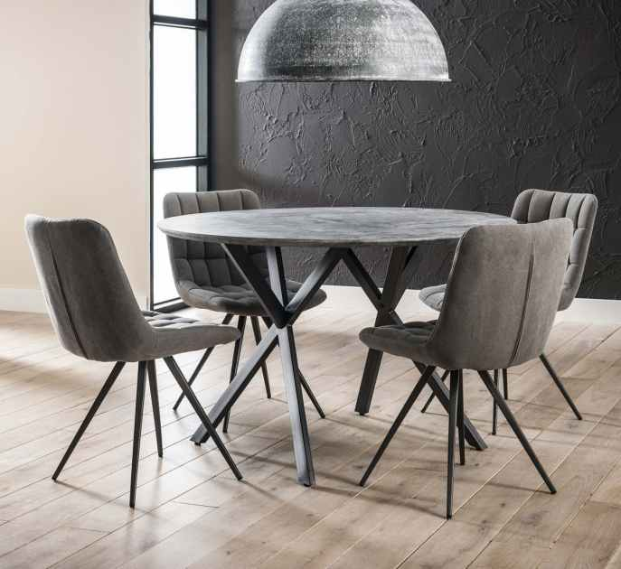 table a manger ronde effet beton 120 cm helsinki