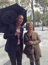 A rainy day on Champs-élysées