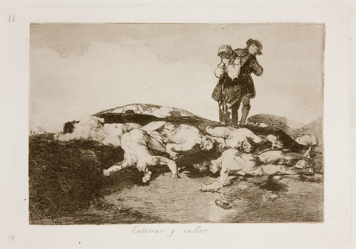 Enterrar y callar - To bury and to shut up. Goya in Prado Museum